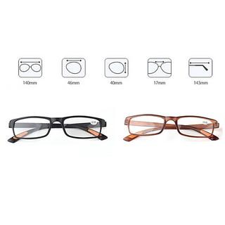 54bd795294f5 Retro Square Frame No Line Bifocal Progressive Clear Lens Reading ...