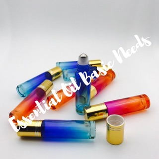 10ml Multi Colored Glass Roller Bottle Shopee Philippines
