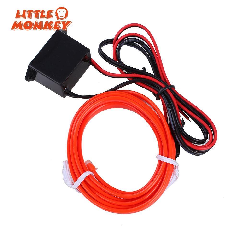 4m 12v Car Neon Lamp Xmas Diy Light Inverter Flexible El Wire Strip 6 12 Watt Fluorescent Tube String Dance Lit Shopee Philippines
